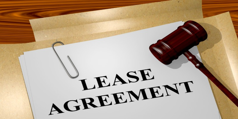 lease agreement written on white paper