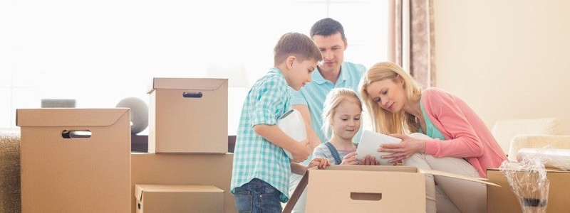 A family is planning preparing for a move